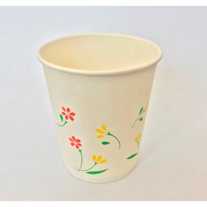 花柄の7オンス紙コップ