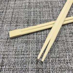 竹材を使用した竹丸箸(双生)になります。耐火性があります